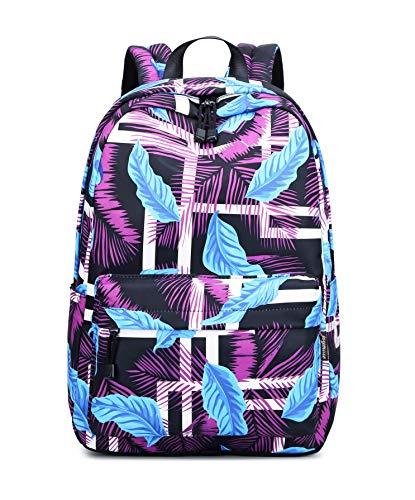 Acmebon stilvolle Schule Rucksack für Jungen und Mädchen Trend drucken Zufälliger Laptop Rucksack Lila