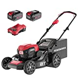 POWERWORKS XB 40V 21\' Brushless Cordless Push Mower, 4Ah Battery and Charger Included LMF414