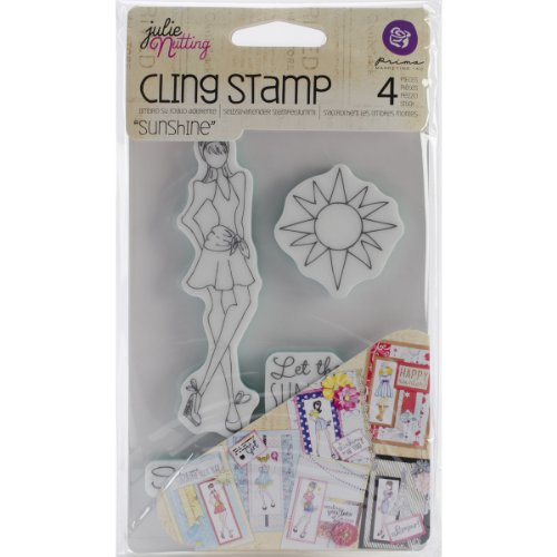 Prima Marketing Mixed Media Doll Cling Rubber Stamps, Sunshine Set
