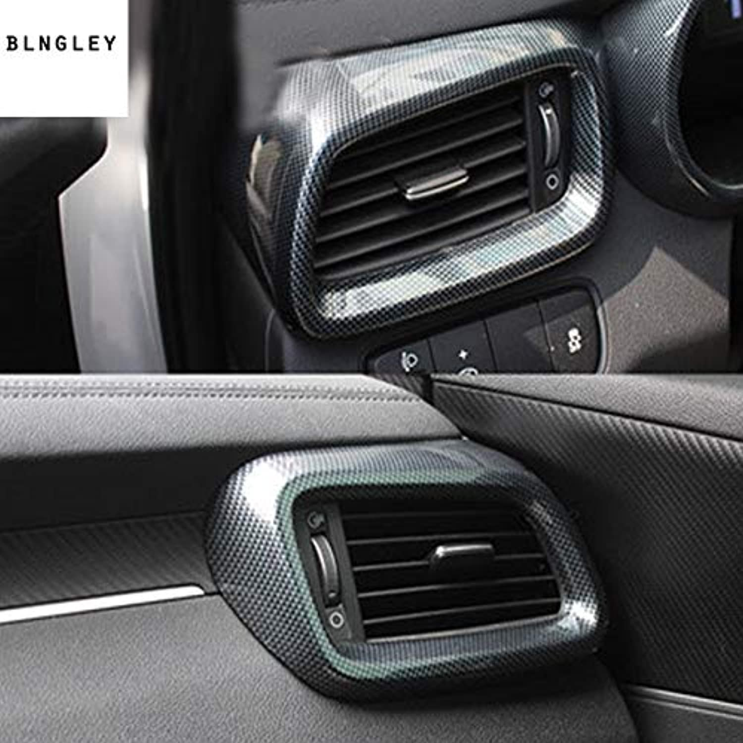 2pcs lot ABS Carbon Fiber Grain Front Both Sides air Conditioning Outlet Decoration Cover for 20152018 KIA Sorento