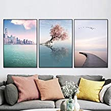 YTGDFB High-rise Landscape Canvas Painting Art Abstract Print Poster Picture Wall Living Room Bedroom Modern Home Decorati...