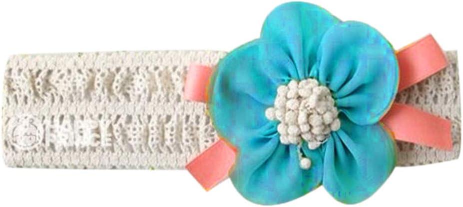 on brand Baby-Stretchy Stirnband Big Spitze-Blumen-Baby-Haar-M/ädchen neugeboren f/ür Kleinkind M/ädchen rosa Blumenhaarband-Haar-Accessoires