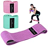 Landcorssers Fabric Booty Bands, Exercise Bands for Legs and Butt Set, Resistance Bands 3 Set Booty Hip Bands, Workout Bands for Pilates Home Fitness, Gym Strength Band, for Beginner to Professional