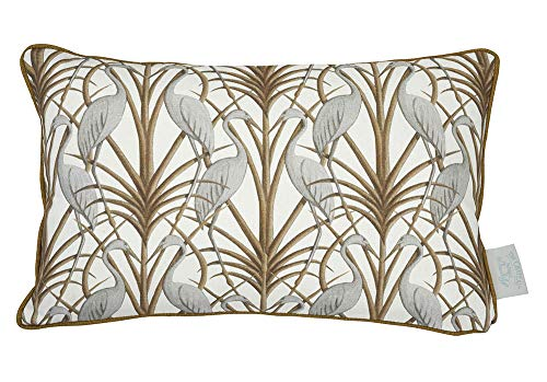 The Chateau by Angel Strawbridge NOUVEAU HERON Cushion - CREAM - Polyester Filled - 30 x 50cm
