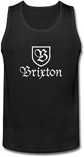 XIULUAN XIULUAN Men's Brixton Logo Academy tank tops