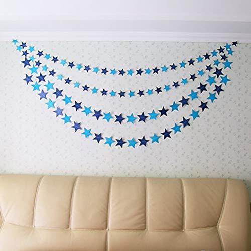 2 mètres à la main romantique tentures murales accessoires coloré étoiles décoration de fête de mariage guirlande bébé chambre décoration-bleu