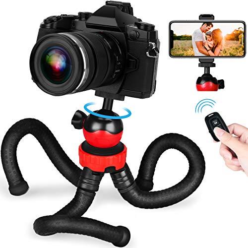 Handy Stativ, GooFoto Flexibel Stativ für Smartphone mit Fernbedienung, Wasserdicht Tripod, Kamera Stativ, Mini stativ für iPhone, Samsung, Huawei, Android, DSLR, Canon, Nikon, Sony (Aktualisierte)
