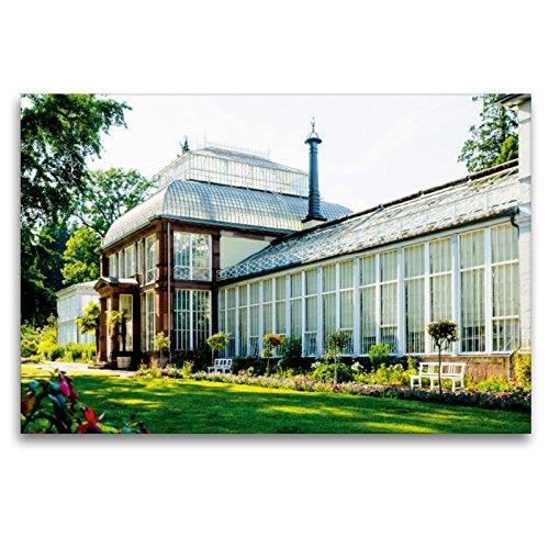 Premium Textil-Leinwand 120 x 80 cm Quer-Format Großes Gewächshaus   Wandbild, HD-Bild auf Keilrahmen, Fertigbild auf hochwertigem Vlies, Leinwanddruck von Markus W. Lambrecht