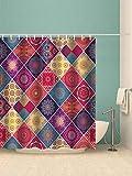 Beddinginn White Flower Summer Shower Curtain Set with 12 Hooks Modern Flower Fabric Bath Curtains Decorative Thick Bathroom Curtain