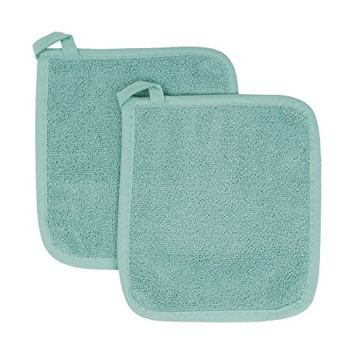 Ritz Royale Collection Terry Pot Holder/Hot Pad Set, Dew, 2-Piece, 2 Count