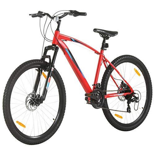 Tidyard Bicicletta Mountain Bike 21 Speed 29' Ruote 48 cm Rosso,Bicicletta Uomo Mountain Bike,Bicicletta Mountain Bike