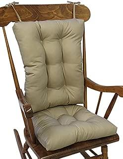 The Gripper Non-Slip Twill Rocking Chair Cushions, Brownstone