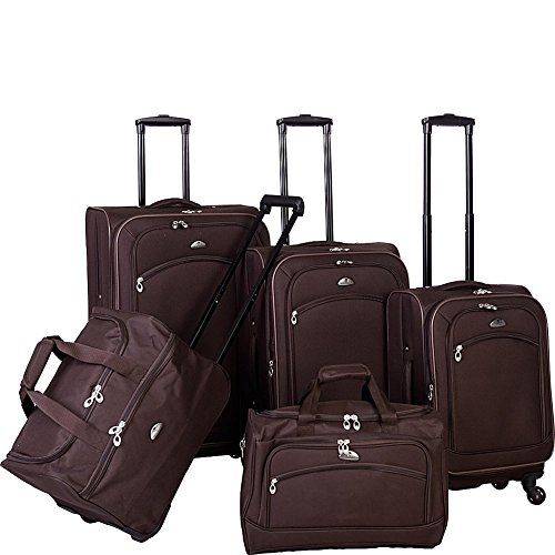 American Flyer South West Collection 5-Piece Luggage Set, Brown