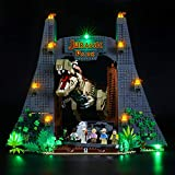 BRIKSMAX Kit de Iluminación Led para Lego Jurassic World Caos del T. Rex,Compatible con Ladrillos de Construcción Lego Modelo 75936, Juego de Legos no Incluido