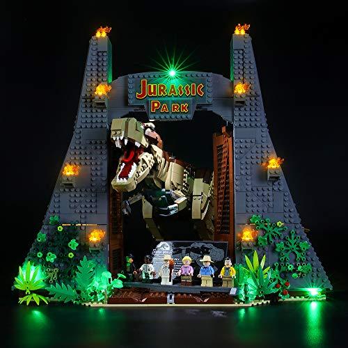 BRIKSMAX Kit di Illuminazione a LED per Lego Jurassic World Jurassic Park: T. Rex Rampage,Compatibile con Il Modello Lego 75936 Mattoncini da Costruzioni - Non Include Il Set Lego.