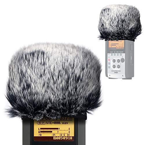 YOUSHARES Mikrofon Windschutz Muff Pop-Filter - Draussen Fell Windschutz Pop-Schutz für Zoom H2n/H4n Tragbare Digital Rekorder