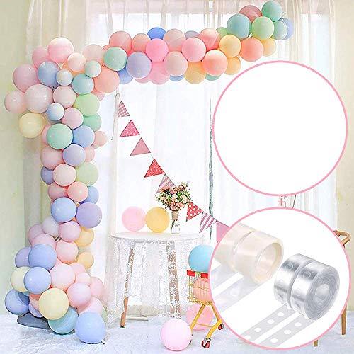 Ballon Girlande Kit Arch, AivaToba16Ft Long 103 Stück Pastell Luftballons Pack Arch mit Ballonpumpe,Ballonkette für Mädchen Geburtstag Baby Shower Bachelorette Party Hochzeits Dekorationen
