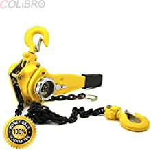 COLIBROX--3/4 Ton 5FT Ratcheting Lever Block Chain Hoist Come w Puller Pulley Heavy Duty. NEW 3/4 TON 5FT RATCHETING LEVER BLOCK CHAIN HOIST COME ALONG PULLER PULLEY.