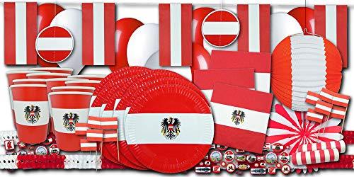 Österreich Flagge Party Set XXL - Partydeko und Partygeschirr im Sparset