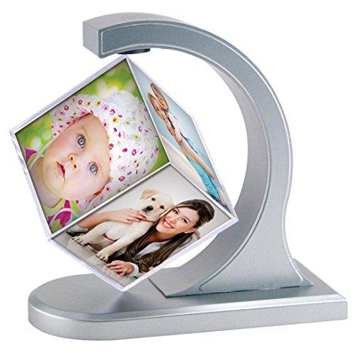 Neil Enterprises Inc. Floating Photo Cube (1, Silver)