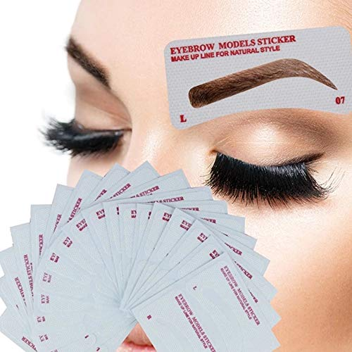 24 Pairs Eyebrow Stencils, Eyebrow Template Non-Woven Eyebrow Shaper, Eyebrows Grooming Stencil Kit Eyebrow Template DIY Makeup Beauty Tools for A Variety of Face