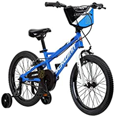This Schwinn Koen boy's bike with 18-inch wheels is designed for children 3 - 7 years old or 42 - 52 inches tall. The Koen is perfect for riding to the park or riding on the sidewalk around the neighborhood. With Schwinn's SmartStart Technology, this...
