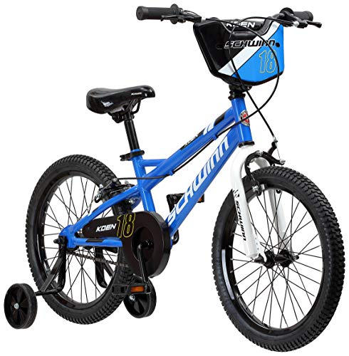 top 10 bike for kids Schwinn Koen Boys Bike for Toddlers and Kids, 18inch Wheels, Blue