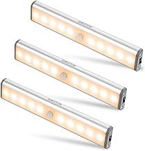 Bewegingssensor Kastverlichting, MOSTON 10 LED draadloze onderkastverlichting met ingebouwde oplaadbare batterij, overal o...