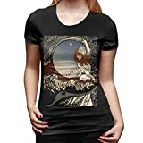 AgoodShop Women's Florence + The Machine Short-Sleeve Crewneck T-Shirt XL Black