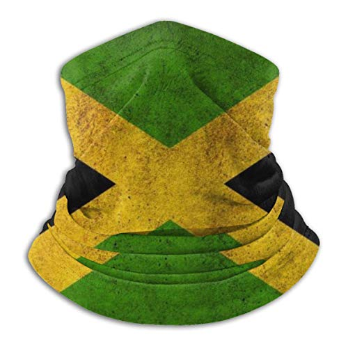 KERYNP Multifunktionstuch Fleece, Halstuch, Schlauchtuch, Jamaica Flag Unisex Fleece Neck Warmer Face Warmer Neck Tube Neck Scarf Neck Gaiters