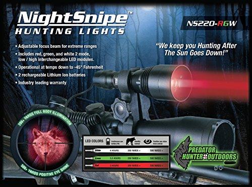 NightSnipe Predator Hunter Light Kit   Red, Green, White LEDs
