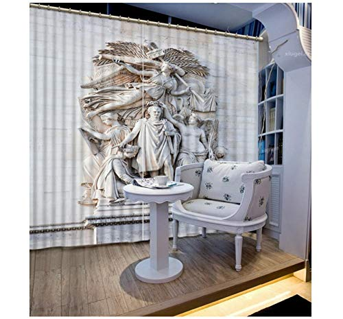 Aymsm Window Blackout Curtains European 3D Curtains Bedroom Creative People Photo Drapes Modern Home Decor Kitchen