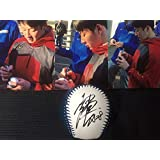北海道日本ハムファイターズ 18 吉田輝星 直筆サイン球団ロゴ入りボール(生写真3枚付き)