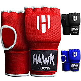 Hawk Padded Inner Gloves Training Gel Hand Wraps for Boxing Quick Wraps Men & Women Kickboxing Muay Thai MMA Bandages Fist Knuckle Wrist Protector Handwraps (Pair) (Red, S/M) (B079KMTM6G) | Amazon price tracker / tracking, Amazon price history charts, Amazon price watches, Amazon price drop alerts