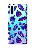Oihxse Mode Motif de Diamant Case Compatible pour Huawei Y6 Prime 2018/Y6 2018 Coque Silicone Ultra Mince Transparent Souple Bumper Crystal Clair Anti-Rayures Antichoc Protection Cover,Diamant 7