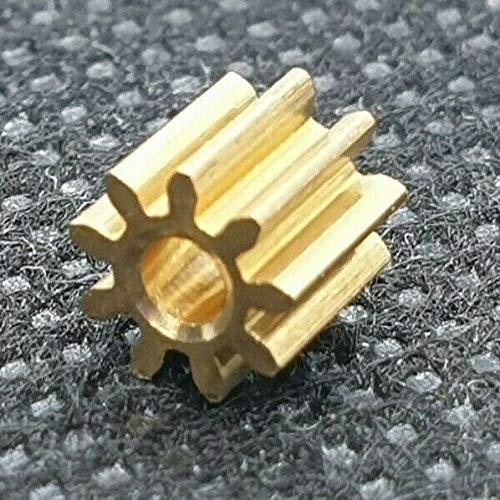 Ersatz Ritzel Zahnrad Messing für Lego Duplo Intelli Lok Lokomotive Rutschkupplung Hinterachse 9 Zähne M 0,4