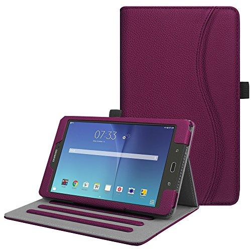 Fintie Case for Samsung Galaxy Tab E 8.0, [Corner Protection] Multi-Angle Viewing Stand Cover with Pocket for Galaxy Tab E 32GB SM-T378 / Tab E 8.0-Inch SM-T375 / SM-T377 Tablet, Purple