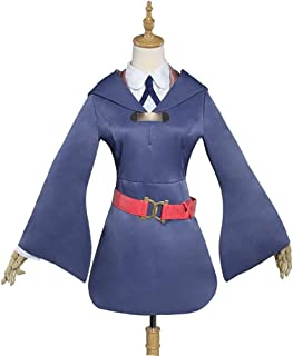 Akko Kagari Cosplay Costume Little Witch Academia Cosplay Costume School Uniform Blue Dress+Hat+Shoes Cover