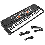 M SANMERSEN Kids Keyboard with Microphone, Kids Piano Keyboard for Beginners Electronic Piano with MP3 Function/ Audio Cable/ 16 Tones/ 49 Keys Music Toy Keyboards for Boys Girls Ages 3-12