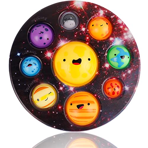 Simple Popper Fidget Dimple Bubble Toys  Mega Planet Dimple Fidget Digit Toys  Sensory Anxiety Relief Silicone Pressure Stress Toys  Plastic Hard Shell Poppits Popping Pops Diget Dinple Cheap Toy