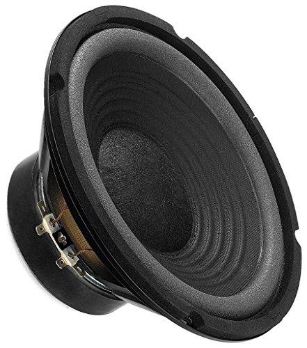 MONACOR SP-202E Hi-Fi Tiefmitteltöner, kompaktes Bass-Chassis in voller Zweiwege-Tauglichkeit bietet ausgezeichnete Klangqualität, Speaker für den Selbsteinbau, in Schwarz