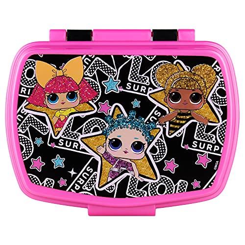 P:os 30684 – Lunchlåda för flickor med trendigt L.O.L. Surprise motiv, ca 16 x 12 x 6,5 cm stor, tillverkad av plast, bpa- och ftalatfri