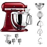 KitchenAid 5KSM175PSECA+MVSA Artisan - Robot da cucina con tagliaverdure, colore: Rosso