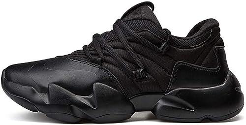 Hommes baskets Chaussures de Course Sport extérieur Chaussures de Course Running Chaussures de Montagne Gym Running Chaussures de Voyage Confortables Femmes,noir,39EU