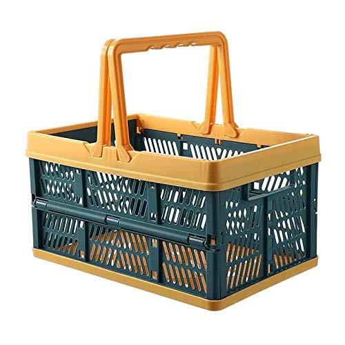 Cesta de picnic Canasta de almacenamiento de alimentos plegables portátiles Cesta de picnic Cesta para el hogar Envase portátil Estante de gran capacidad Caja de cesta de almacenamiento Cestas dificul
