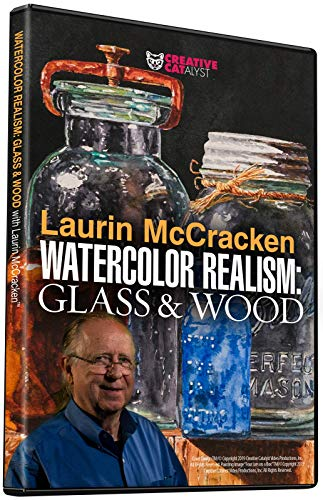 WATERCOLOR REALISM: GLASS & WOOD WITH LAURIN MCCRACKEN DVD, Art Instruction, Art Improvement, Art Education, Watercolor Painting, Become a Better Artist