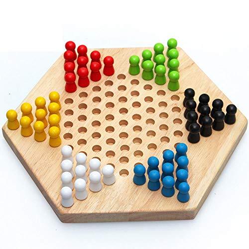 SSRSHDZW Kinderprüfer Frühe Bildung Intellektuelles Spielzeug Holz Sechseckiges Brettspiel Spielzeug Tischspiele Lehrmittel Für Kinder Kinder