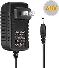 PLUSPOE 48 Volt Power Supply Adapter for VOIP Polycom IP Phones VVX 300, 301, 310, 311, 400, 401, 410, 411, 500, 501, 511, 600, 601, 611, 1500 2200-46170-001, Sound Point IP 560, 670