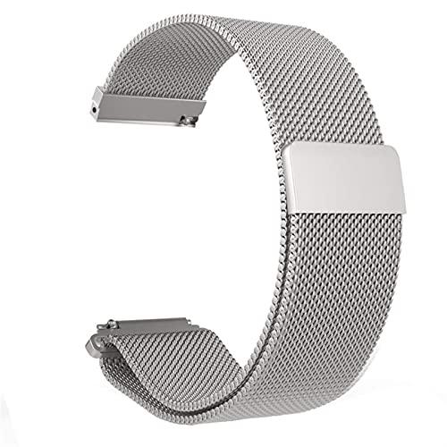 WGDPMGM Correa Reloj Correa de Acero Inoxidable 20 mm 22 mm Relojes rápidos Relojes de Relojes de reemplazo (Color : Silver, Size : 22mm)