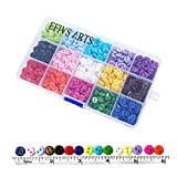 Efivs Arts 1125 pcs 0.35'(9mm) 2 Hole Sewing Flatback Resin Buttons for Sewing DIY Crafts Scrapbooking Children's Manual Project, 15 Colors